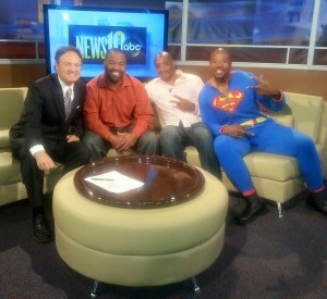 Comedian Tristan Johnson  on News 10 ABC