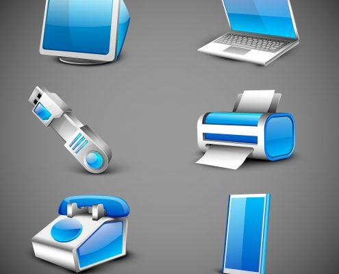 Graphic modern-office-electronic