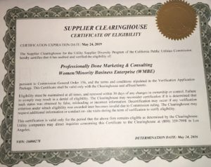 SUPPLIER CLEARINGHOUSE CERTIFICATE wth SEAL